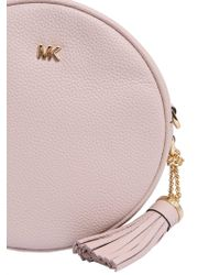 MICHAEL Michael Kors - Medium Canteen Leather Crossbody Bag - Lyst
