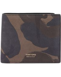 Tom Ford - Camouflage Leather Bifold Wallet - Lyst