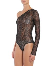MSGM - One Shoulder Lace Body - Lyst