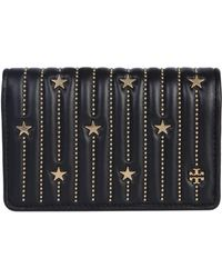 Tory Burch - Medium Nappa Wallet With Star Appliques - Lyst
