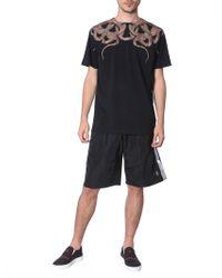 Marcelo Burlon Swimsuit With Side Bands - Black