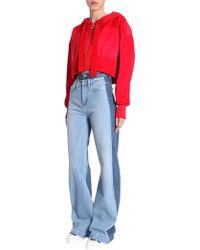 Tommy Hilfiger - Jeans Wide Leg In Denim Di Cotone - Lyst