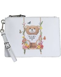 Moschino - Clutch Small Botanical Teddy - Lyst