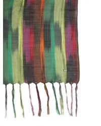 Saint Laurent - Ikat Pinceu Wool Blend Scarf - Lyst