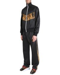 Versace - Zipped Sweatshirt With Print - Lyst