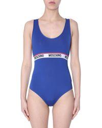 Moschino - Logo-band Sleeveless Bodysuit - Lyst