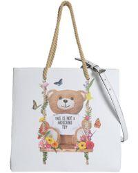 Moschino - Borsa Shopping Botanical Teddy Con Manico In Corda - Lyst