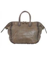 Zagliani - Diana Python Leather Bag - Lyst