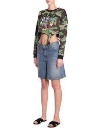 Jeremy Scott - Cotton Camouflage Sweatshirt With Suspenderes - Lyst