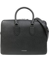 Alexander McQueen - Borsa Briefcase In Pelle Bottalata - Lyst