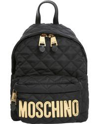 Moschino - Quilted Backpack - Lyst
