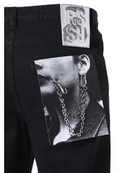 Raf Simons Denim Shorts With Patch