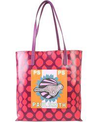 PS by Paul Smith Red Polyurethane Handbag