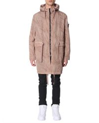 Stone Island Shadow Project - PARKA IN NYLON CON STAMPA GOFFRATA - Lyst