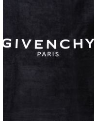Givenchy Beach Towel In Cotton Sponge With Logo Embroidery