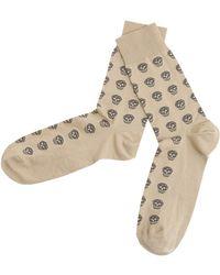 Alexander McQueen - Skull Short Cotton Blend Socks - Lyst