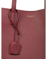 Saint Laurent - Leather Tote Bag - Lyst