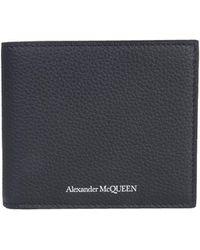 Alexander McQueen - Bifold Bottled Leather Wallet - Lyst