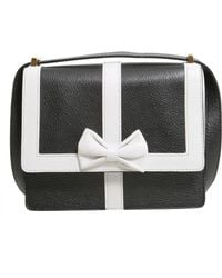 Boutique Moschino - Crossbody Leather Bag With Contrasting Colour Trim And Bow - Lyst
