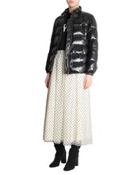 RED Valentino - Short Down Jacket In Technical Fabric With Back Print - Lyst