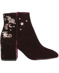 Ash - Elixir Velvet Ankle Boots - Lyst