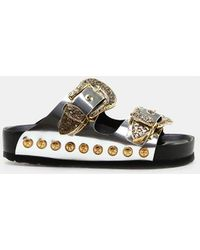 Fausto Puglisi - Gold Buckle Slide - Lyst