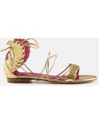 Oscar Tiye - Malikah Lace-up Winged Flat Sandal - Lyst