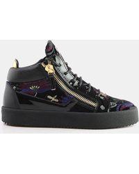 9eb9363b7e9 Giuseppe Zanotti - Magdalena Dual Zipper Brocade Velvet Sneaker - Lyst