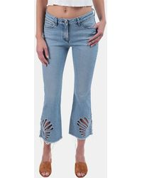3x1 - Freja Cropped Bell-bottom Jeans In Elkhorn - Lyst