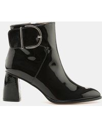 f74add57ab7 Lyst - Stuart Weitzman Women s Belowdeck Patent Leather Platform ...