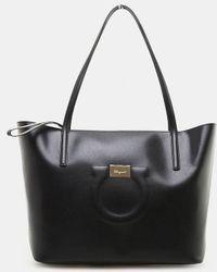 c98cc5bffeaf Ferragamo - City Leather Tote Bag - Lyst