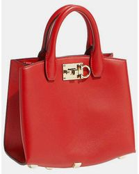 efaf34358805 Ferragamo - The Studio Nappa Leather Mini Cross Body Bag - Lyst