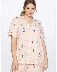 Eloquii - Comfort Piped Button Down - Lyst