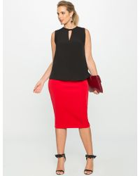 Eloquii - Neoprene Pencil Skirt - Lyst