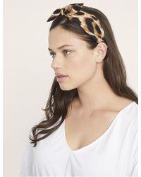 Eloquii - Leopard Bow Headband - Lyst