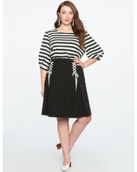 Eloquii - Lace Up Circle Skirt - Lyst