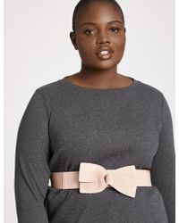 Eloquii - Faux Leather Bow Belt - Lyst