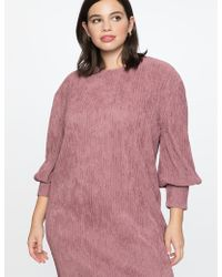 Eloquii - Dropped Shoulder Easy Dress - Lyst