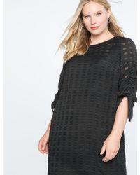Eloquii - Textured Windowpane Dress - Lyst