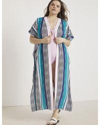 Eloquii - Printed Maxi Kimono Coverup - Lyst