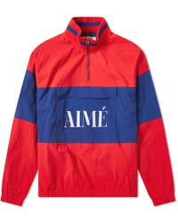 Aimé Leon Dore - Red And Blue Quarter Zip Pullover Jacket - Lyst