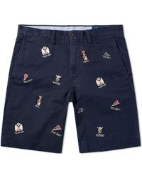 Polo Ralph Lauren - Embroidered Bear Chino Short - Lyst