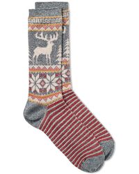 Anonymous Ism - Deer Snow Jaquard Crew Sock - Lyst