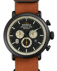 Shinola - Runwell Contrast Chronograph 47mm Watch - Lyst