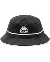 d48e48f0ee Kappa Velour Bucket Hat With Embroidered Logo And Logo Taping In Black in  Black for Men - Lyst