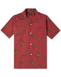 Beams Plus - Short Sleeve Large Paisley Print Vacation Shirt - Lyst