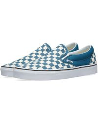 dd1ce6955b Vans - Corsair   True White Checkerboard Classic Slip On Trainers - Lyst