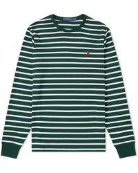Polo Ralph Lauren - Long Sleeve Pima Stripe Tee - Lyst