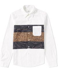 Uniform Experiment - Fabric Mix Shirt - Lyst