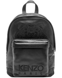 KENZO - Leather Tiger Backpack - Lyst